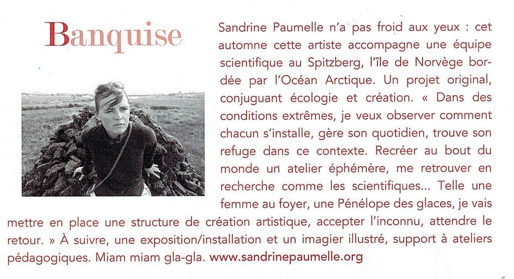 Sandrine Paumelle accompagne une équipe scientifique au Spitzberg